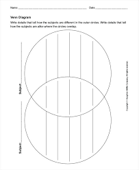 Free Venn Diagram Template With Lines Blank Diagram Template Free Satisfying For Venn To Print 3