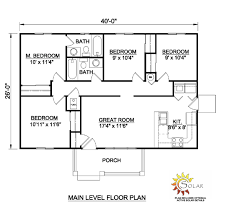 ranch house plan 94451 level one