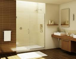 frameless shower door installation in