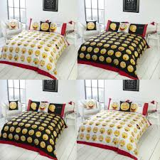 full size of fun bright duvet covers icons smiley emoji duvet quilt cover set black white