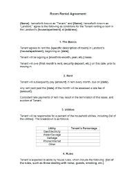 Room Agreement Template Rental Word Excel Ideas Rent Lease ...