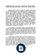 nhs essay jun park national junior honor society application essay