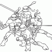 Kleurplaten Teenage Mutant Ninja Turtles Kleurplaten Kleurplaatnl