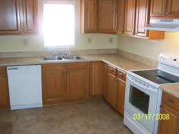 Travertine Flooring In Kitchen Beattie St After Kitchen Rehab All New Stock Cabinets From Lowes