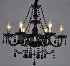 black glass crystal chandelier throughout remodel 7