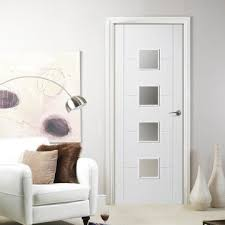 interior frosted glass door. Florida White Primed Flush Door With Frosted Safety Glass Interior