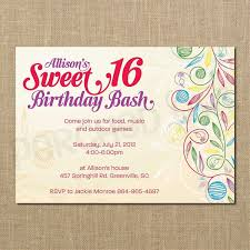sweet 16 birthday invitation templates book of sweet 16 invitation cards best sweet six invitations