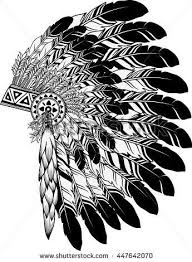 American Indian Chief Headdress Stock Vector Native American Indian