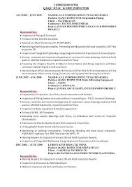 Resume For Quality Control Inspector Spacedesignagency Co