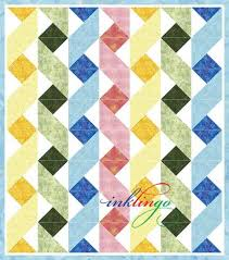 Twisting Ribbons Inklingo Ribbon Baby Quilt   Sewing   Pinterest ... & Explore Triangle Quilts, Triangles, and more! Adamdwight.com