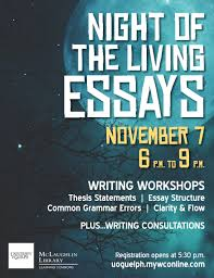 night of the living essays college of arts essay writing workshops