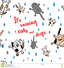 animated raining cats and dogs. Interesting Dogs Download Itu0027s Raining Cats And Dogs Autumn Card Stock Vector   Illustration Of Cute Throughout Animated D
