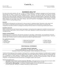 Sample Ba Resumes Business Analyst Resume Sample Example Of Senior