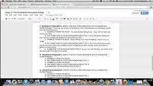 the outsiders persuasive essay outline the outsiders persuasive essay outline