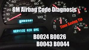 2004 Chevy Avalanche Service Airbag Light Is On Chevy Gmc Service Airbag Message Codes B0024 B0026 B0043 B0044