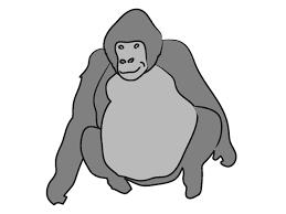 ゴリラ動物クリップアート無料素材イラスト