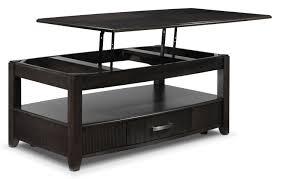 ... Coffee Table, Stylish Black Rectangle Modern Wood Coffee Table Lift Top  Designs: Chic Coffee ...