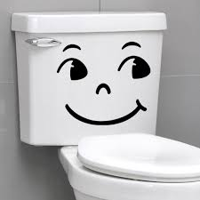 Wall Sticker Bathroom Smiling Face Big Eyes Quote Wall Sticker Home Wall Decals Switch