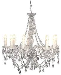 clear febland nine light crystal chandelier