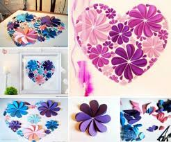 3d paper flower wall art ideas easy video instructions on 3d paper wall art tutorial with 46 best made from paper images on pinterest paper hearts paper