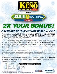 Keno Payout Chart Ma Keno Rules Massachusetts Casino Portal Online