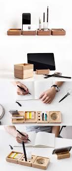 office gifts pen stand holder wooden smart phone dock storage desktop accessories set