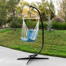 best choice s metal hanging hammock chair c stand for hammock air porch swing chair