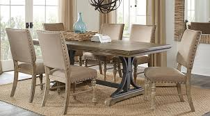 black dining room sets. Sierra Vista Driftwood 5 Pc Rectangle Dining Set - Room Sets Light Wood Black E