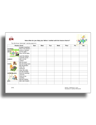 Examples Of Chore Charts For Families 11 Best Family Chore Chart Examples Templates Download