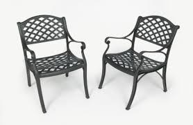Three Coins Cast Crossweave Cast Aluminum Patio Chair