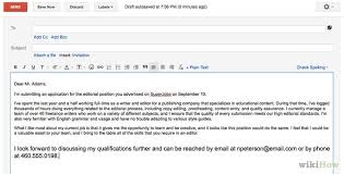 How To Write An Email With Resume Writing An Email with Resume and Cover Letter attached 2