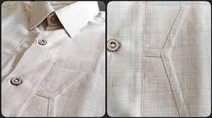 Gents Shirt Pocket Design Safari Suit Stitching