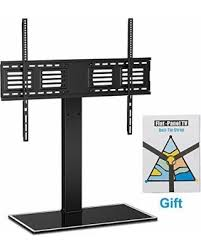 tv stand with mount 65 inch. fitueyes universal swivel tv stand base wall mount for 50 55 60 65 75 inch flat tv with