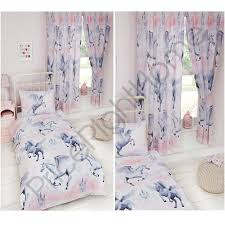 stardust unicorn duvet cover sets matching curtains single double junior new 1 of 1free
