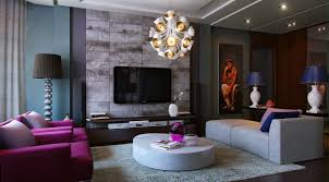 Purple Living Room Furniture Living Modern With Nature Tones Color Blasts