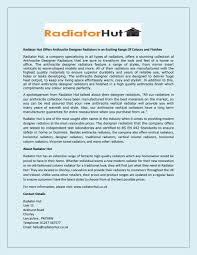 Designer Warmth Radiators Radiator Hut Offers Anthracite Designer Radiators In An