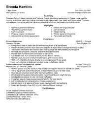 Job Resume Personal Trainer Resume Examples Free Fitness