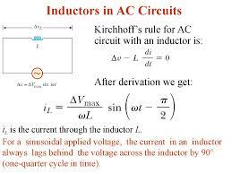 alternating current circuit. inductors in ac circuits alternating current circuit