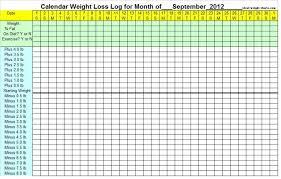 Weight Loss Calendar September Weight Loss Calendar 2012