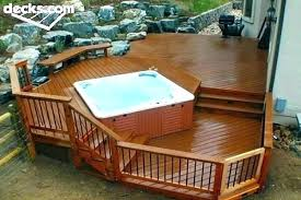 deck designs with hot tub spa decks 6 plans platform it out and surround ideas privacy hot tub surround ideas this wall diy
