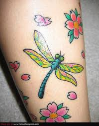 Dragonfly N Flowers Tattoo Design 3 Tattoos Book 65000 Tattoos