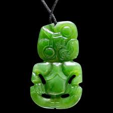 details about jade tiki handcraft by ross crump authentic new zealand art necklace