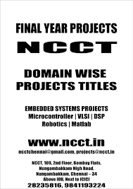 Gray And Wise Project Domain Wise Project Titles 2009 2010 Ncct Final Year Projects