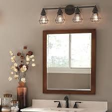 unique bathroom lighting. Unique Bath Light Fixtures Bathroom Vanity Lighting With Four Olde Bronze Above