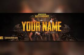 create a you banner game of pubg cool