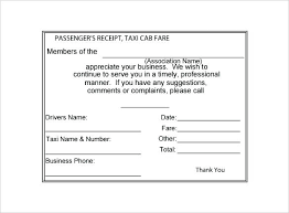 Yellow Cab Receipt Template New 4 Cabs Bill Formats In Word Taxi