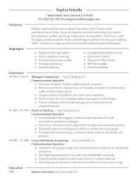 Sample Communications Resume Best of Mass Communication Resume Communications Resume Examples
