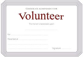 Volunteer Of The Year Certificate Template Printable Appreciation