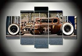 vintage car wall art framed printed antique classic car group painting room decor print poster picture vintage car wall art