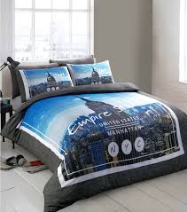 nyc american reversible trendy city empire state building themed design bedding duvet cover set 8753 p jpg